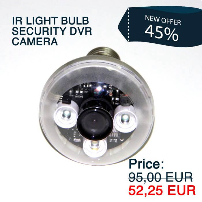 IR Bulb Security DVR Camera