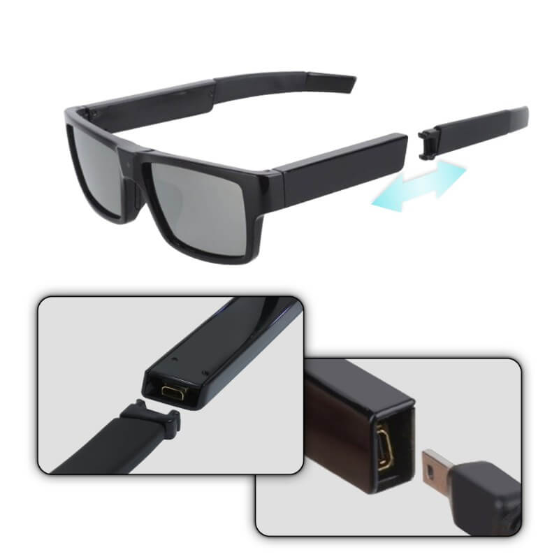 Full HD 1080P Eyeglasses Mini DVR with 16GB built in memory