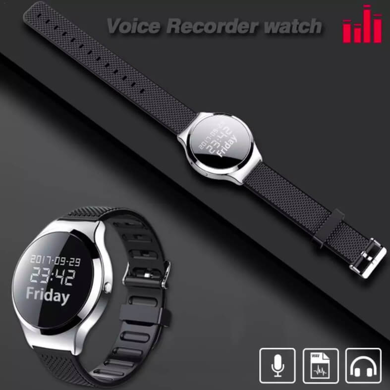Watch Audio Recorder and MP3 Player with 8 GB Integrated Memory