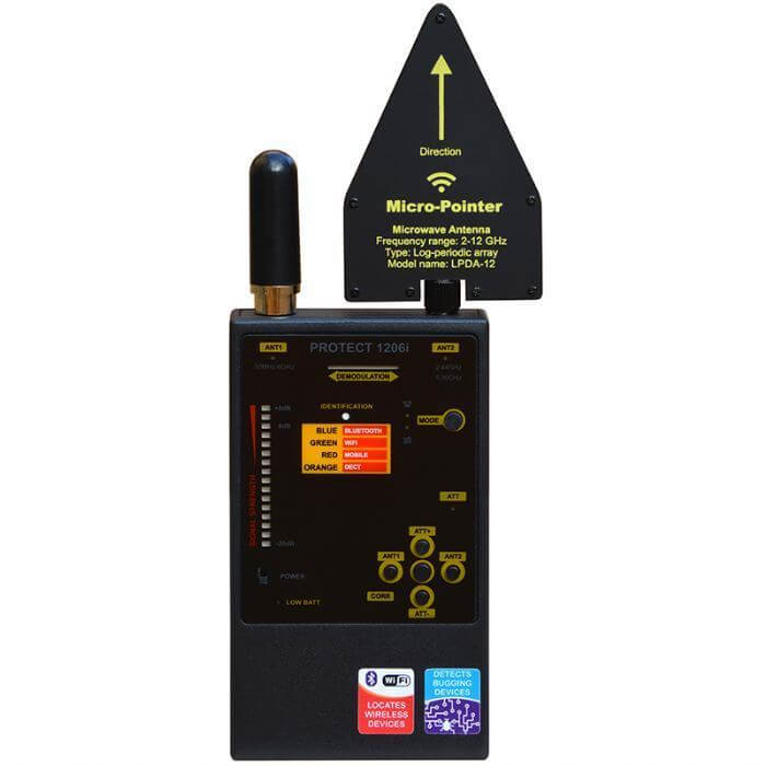 Protect 1206i Detektor von Bugs und digitalen Übertragungen