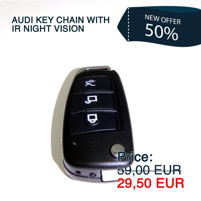 Audi Keychain Camera with IR Night Vision